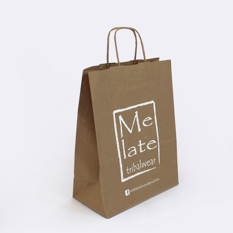 Brintel bolsa papel kraft serigrafia blanca asa retorcida diseño - diseño gráfico - artes gráficas - imprenta - etiquetas - bolsas - packaging - display - imagen - plv