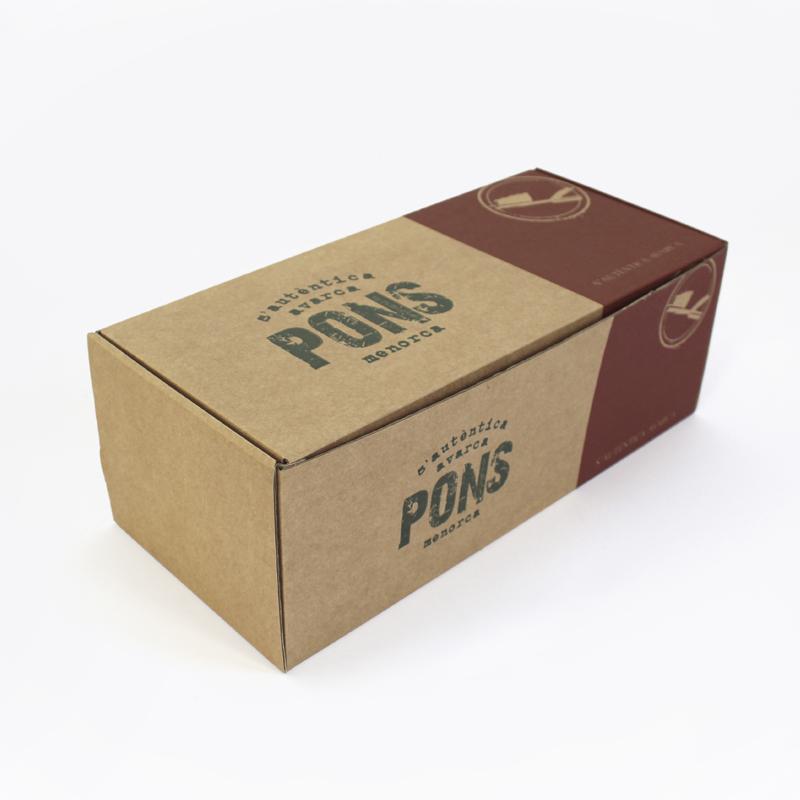 Brintel caja automontable zapatos carton kraft diseño gráfico artes gráficas imprenta etiquetas bolsas packaging display imagen plv