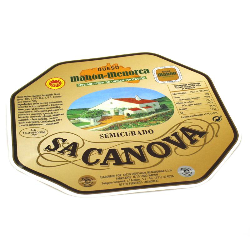 etiqueta queso Sa CAnova