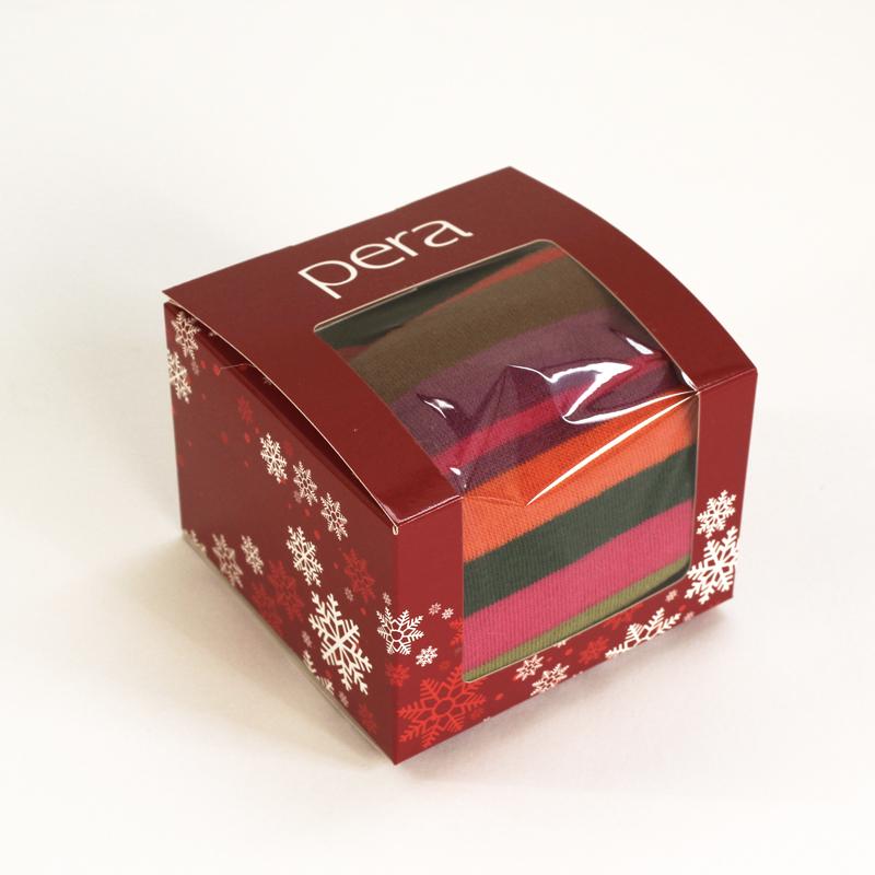 Brintel caja regalo para calcetines y complementos con ventana