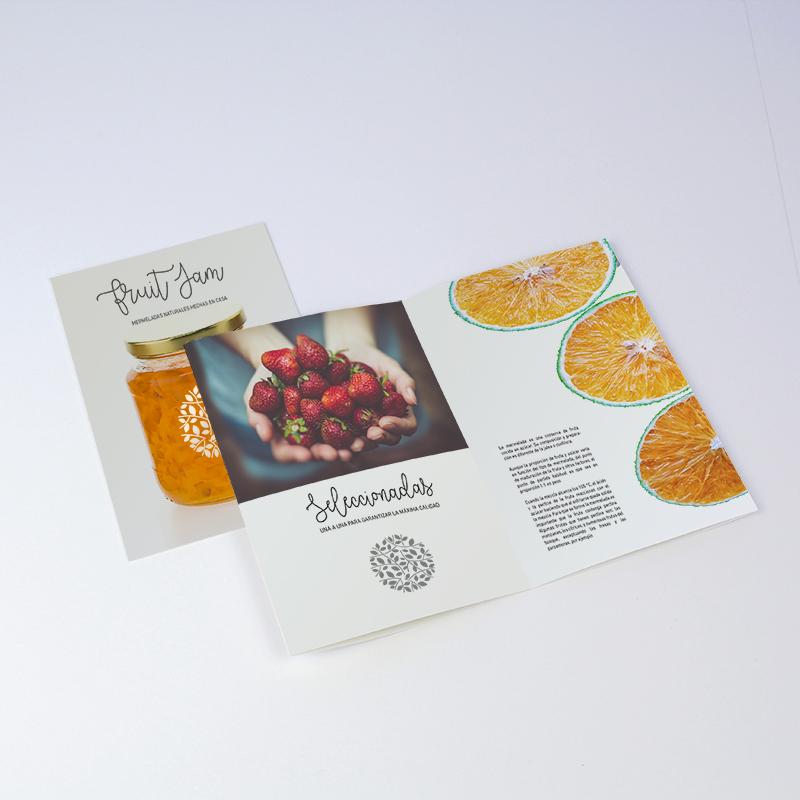 Brintel diptico alimentacion offset estucado diseño - diseño gráfico - artes gráficas - imprenta - etiquetas - bolsas - packaging - display - imagen - plv