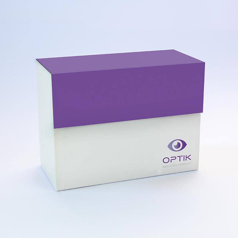 Brintel caja contenedora para muestras opticas purpura