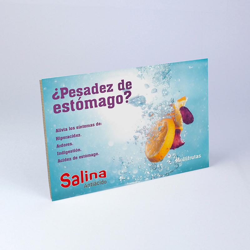 Brintel display mostrador horizontal con peana sal de frutas