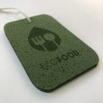brintel green etiqueta material especial verde troquel especial etiqueta espuma reciclado ecologico