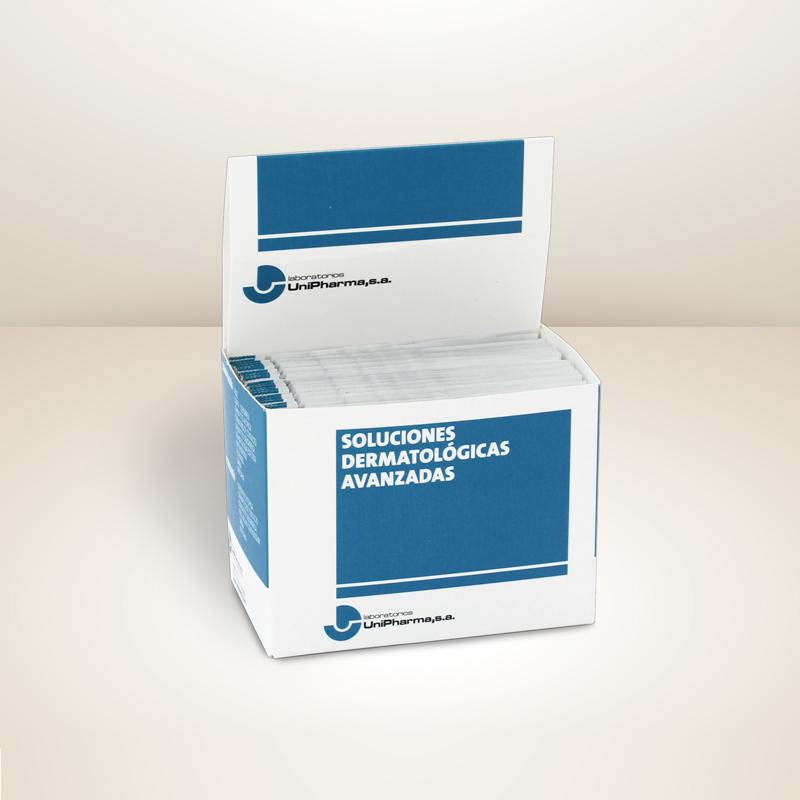 caja expositora de muestras